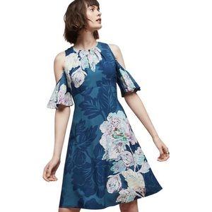 Anthropologie Maeve Elia Cold Shoulder Dress